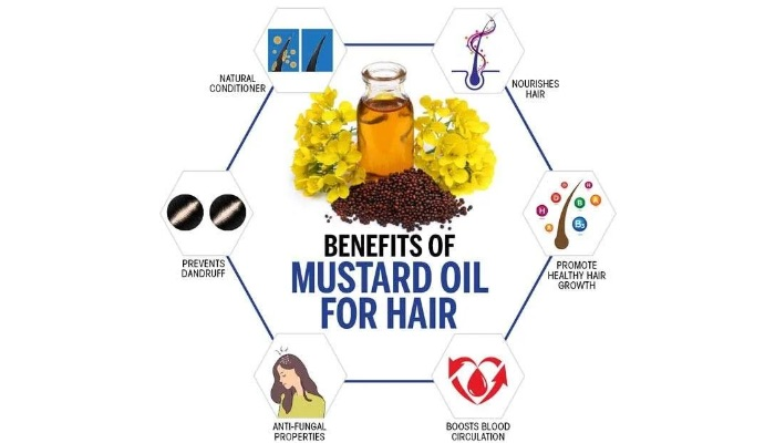way to use Mustard oil for hair